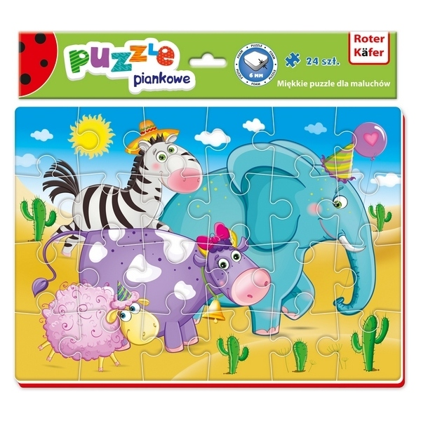 Puzzle Animals 24 piese Roter Kafer RK1201-02