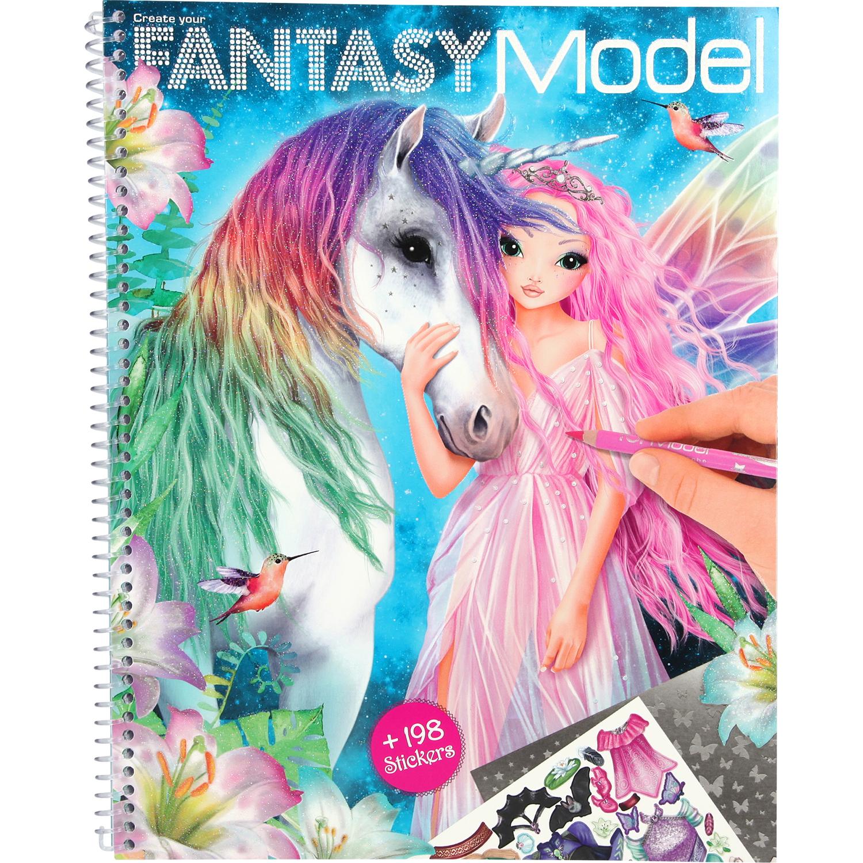 Carte de colorat Create your Fantasy Model Depesche PT10127